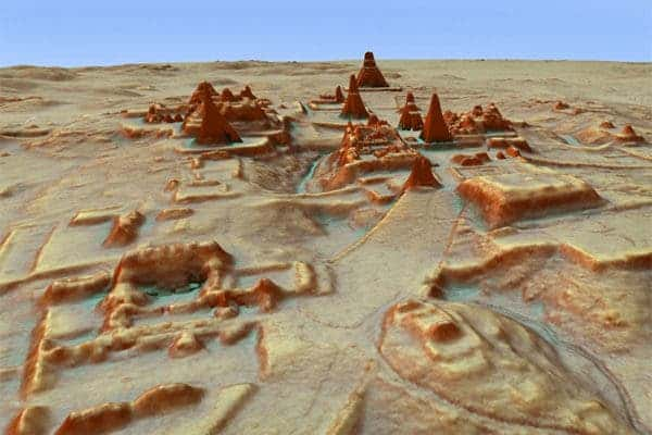 LiDAR or 3D map of Tikal. Credit: Luke Auld-Thomas and Marcello A. Canuto.