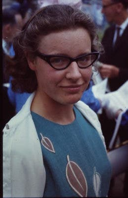 Dame Susan Jocelyn Bell Burnell in 1967, the year she found the first evidence of a pulsar. Credit: Wikimedia Commons.