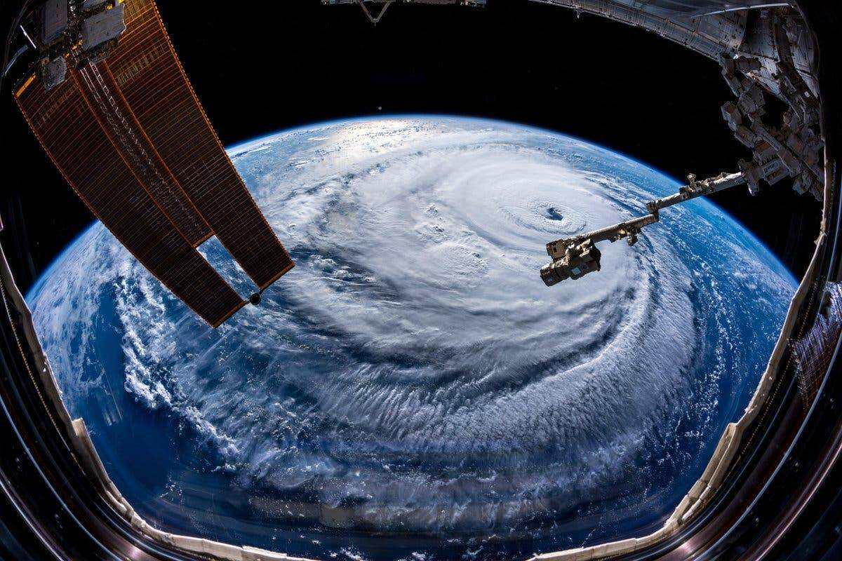 Photos of Hurricane Florence from space are truly scary to behold