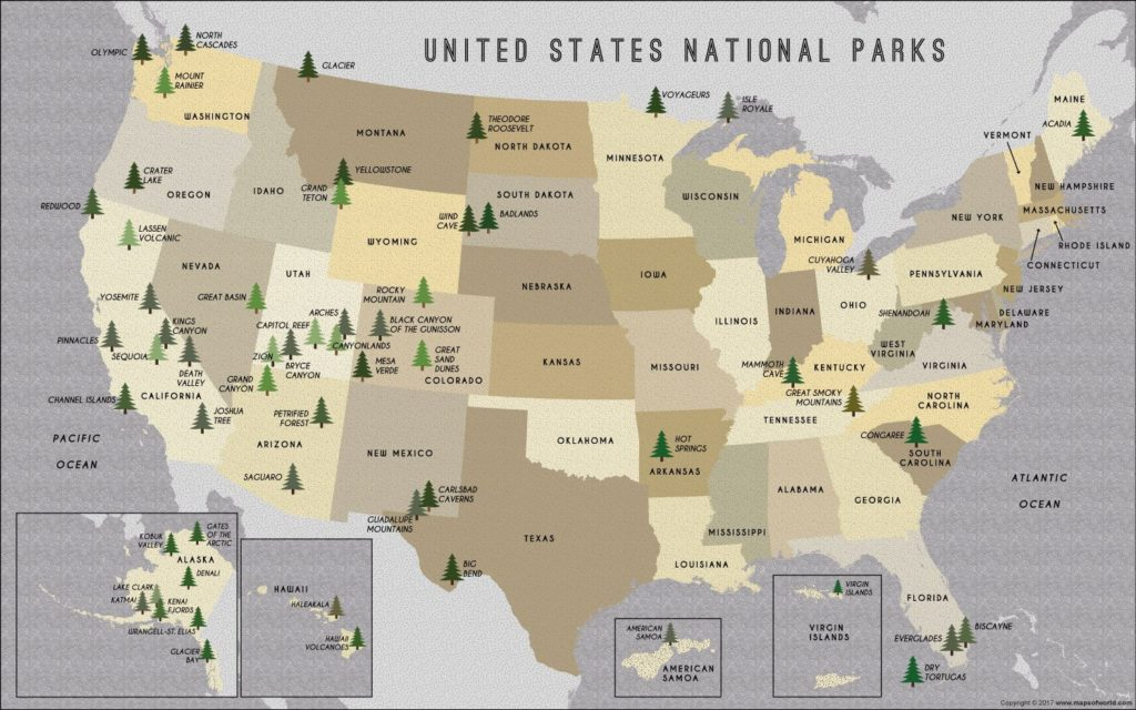 Map national parks.