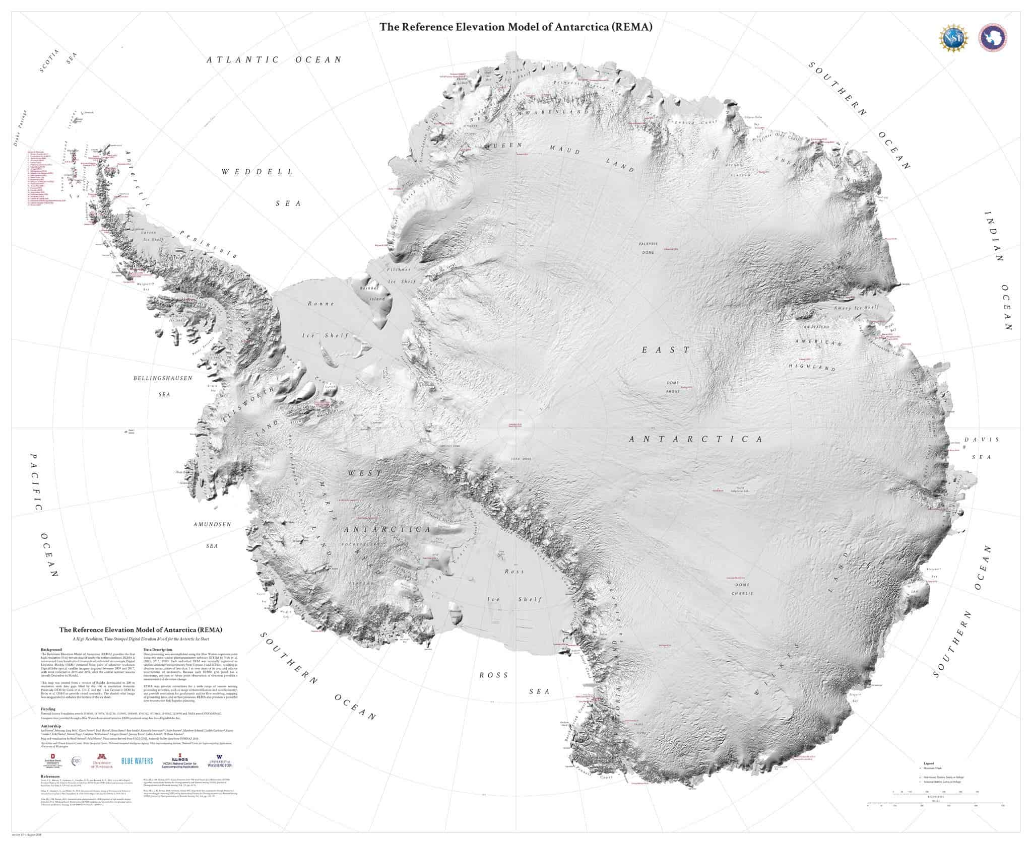 new map of antarctica is the most detailed out of all continents
