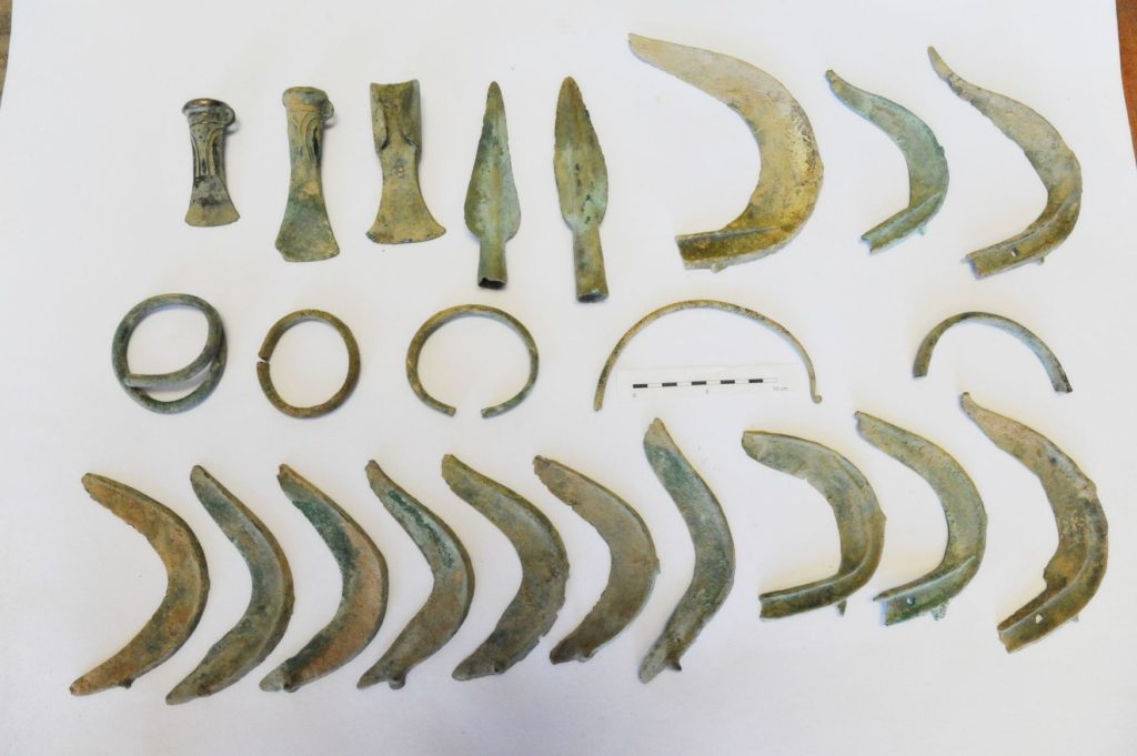 Bronze artifacts Czech.