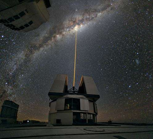 Yepun telescope, part of the European Southern Observatory's (ESO's) Very Large Telescope. Credit: ESO.