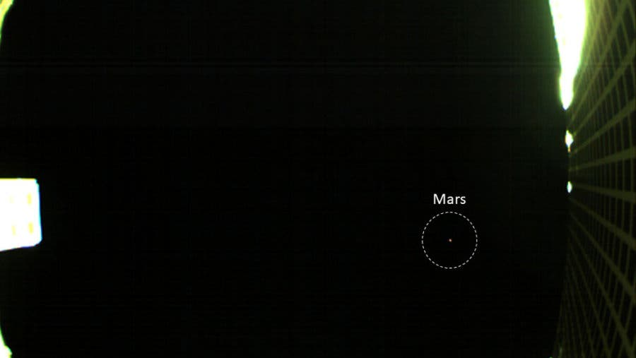 NASA's First Image of Mars from a CubeSat