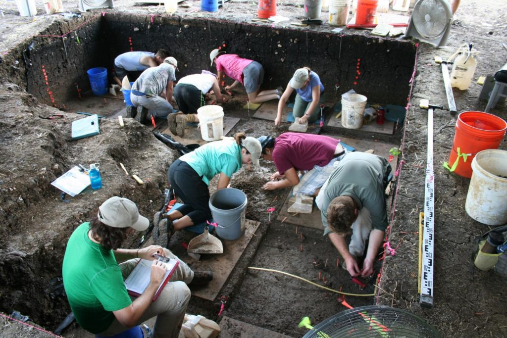 Excavations at the Debra L. Friedkin site 2016. Credit: Center for the Study of the First Americans, Texas A&M University.