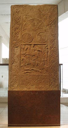 The Hilton of Cadboll Stone in the Museum of Scotland. Credit: Wikimedia Commons.