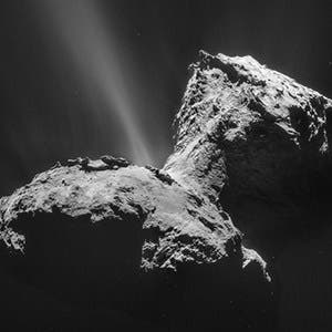 Phosphate compounds may have arrived on Earth delivered by comets, such as comet 67P/Churyumov-Gerasimenko. Credit: ESA/Rosetta/NAVCAM