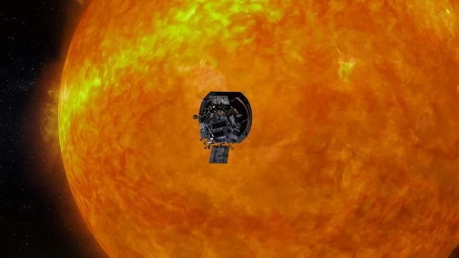 "Illustration of NASA""s Parker Solar Probe. Credit: NASA."