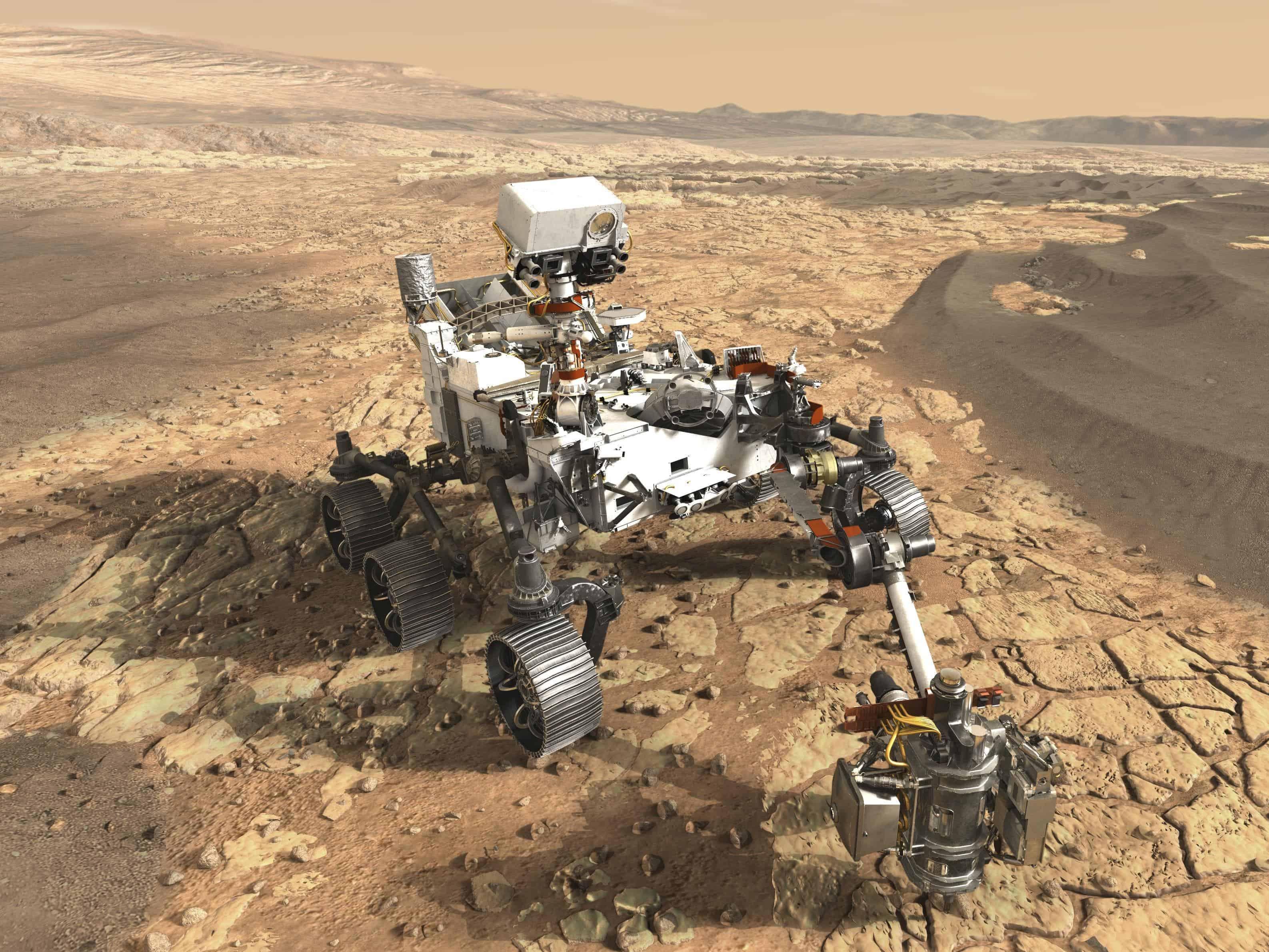 mars rover landing - HD2000×1370