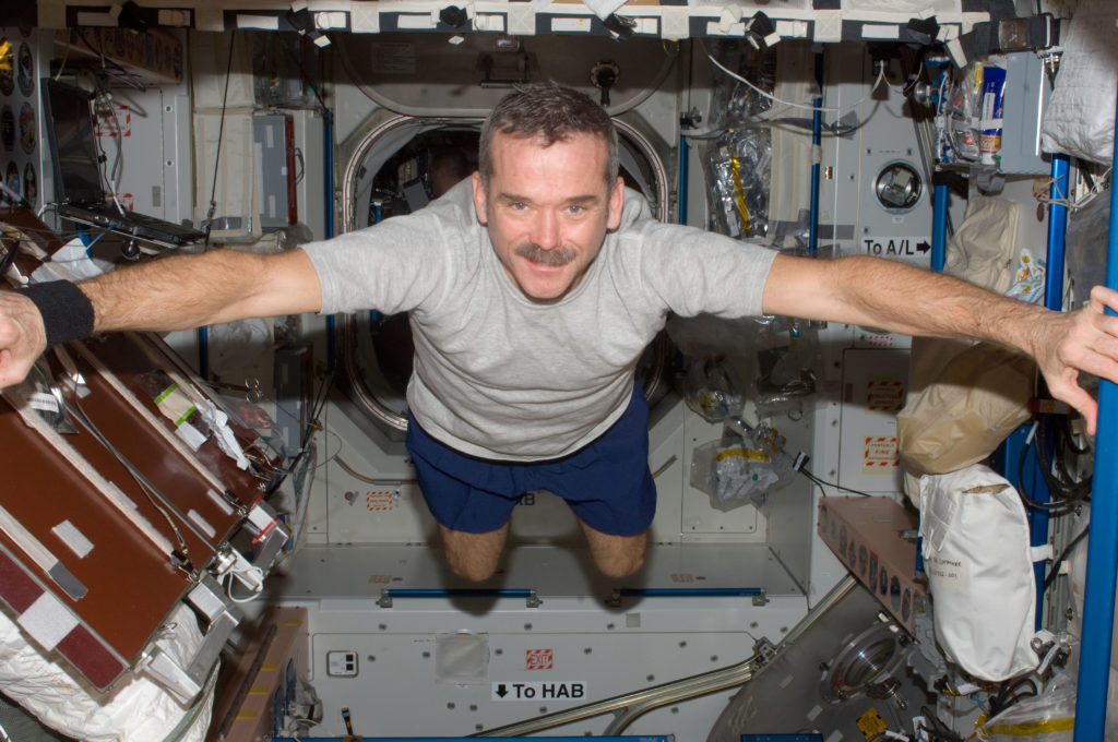 Canadian Space Agency astronaut Chris Hadfield on the International Space Station in 2012. Credit: NASA.