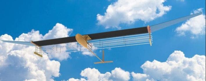 Illustration of the world's first ionic-wind-powered aircraft. Credit: MIT.