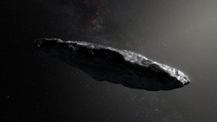 Illustration of 'Oumuamua. Credit: NASA.