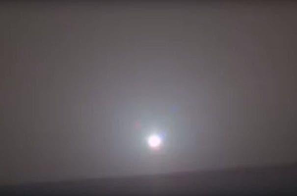 The sun rising over the Martian landscape. Credit: NASA.