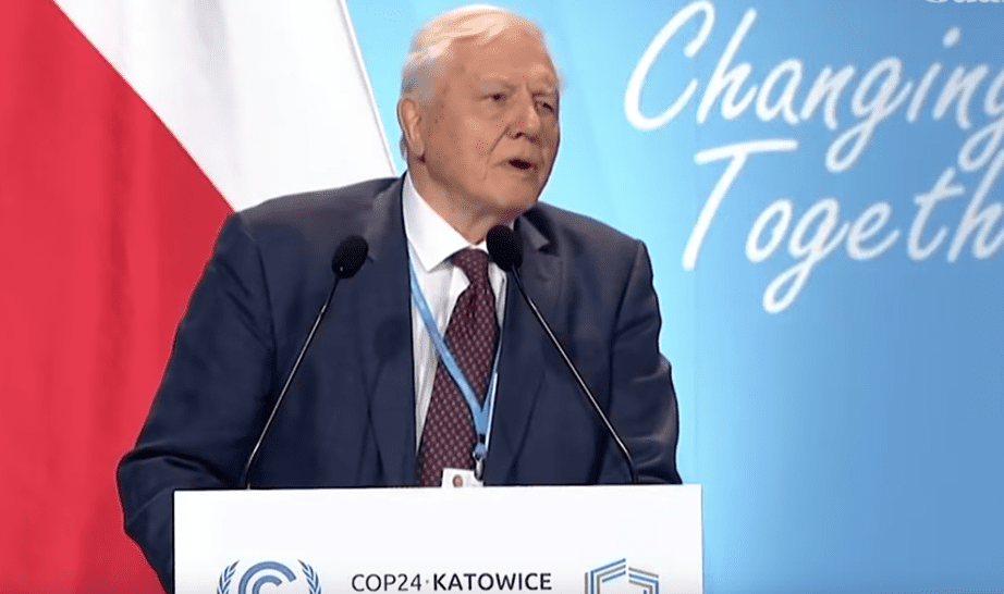 "Collapse of civilization is on the horizon"", David Attenborough tells UN  climate summit"