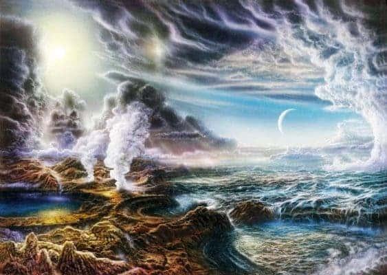 Illustration of early Earth. Credit: Harvard University.