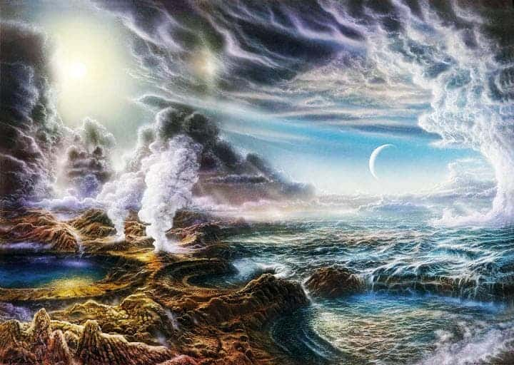 Illustration of early Earth. Credit: Harvard University.