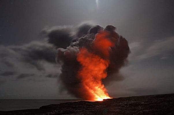 Hawaii volcano.