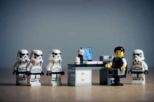 Lego employees.