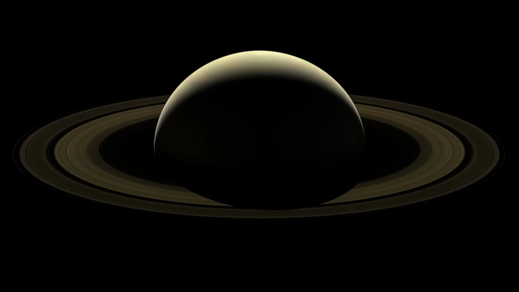 Cassini's view of Saturn durings its final flybies of the gas giant. Credit: NASA/JPL-Caltech/Space Science Institute.