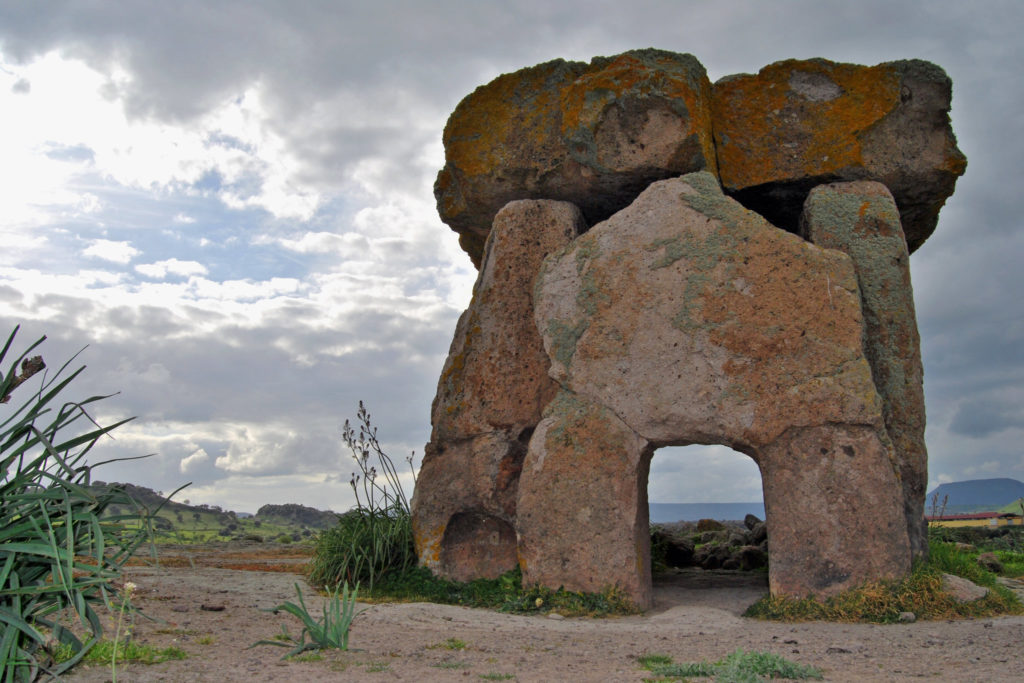 The Dolmen di Sa Coveccada, a megalithic grave found in northeastern Sardinia. Credit: Bettina Schulz Paulsson.