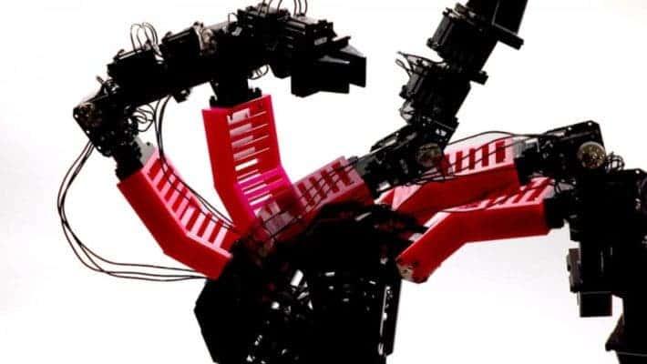 Deformed robotic arm.