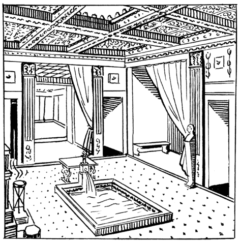 Illustration of an atrium. Credit: Wikimedia Commons.