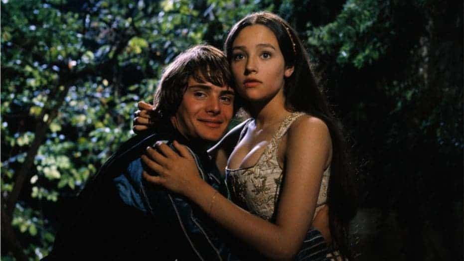 Still from the 1968 film 'Romeo and Juliet'.