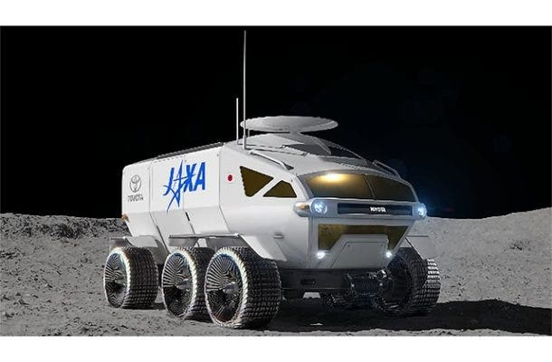 Concept art of Toyota moon rover for JAXA. Credit: Japan Aerospace Exploration Agency.