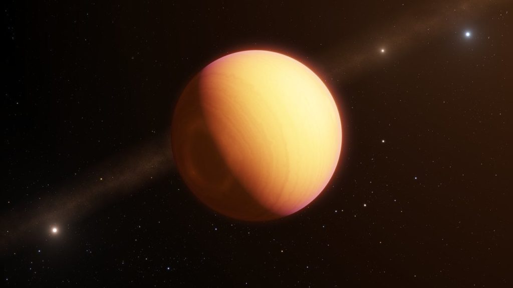Artist impression of HR 8799e. Credit: ESO.
