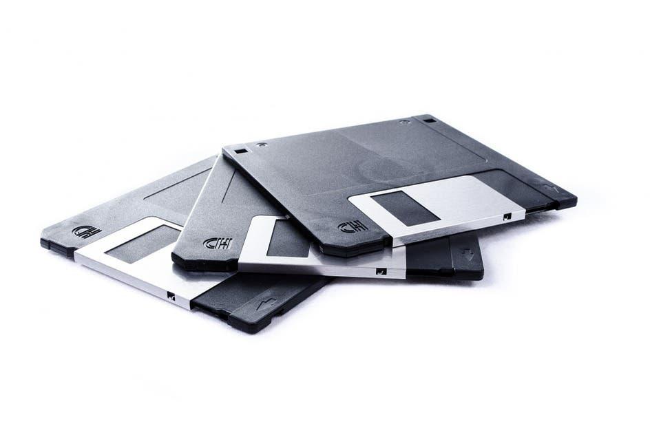 Floppy disk.
