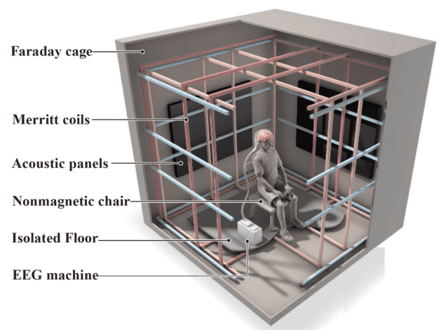 Illustration of the Faraday Cage used in the present experiment. Credit: Bickel.