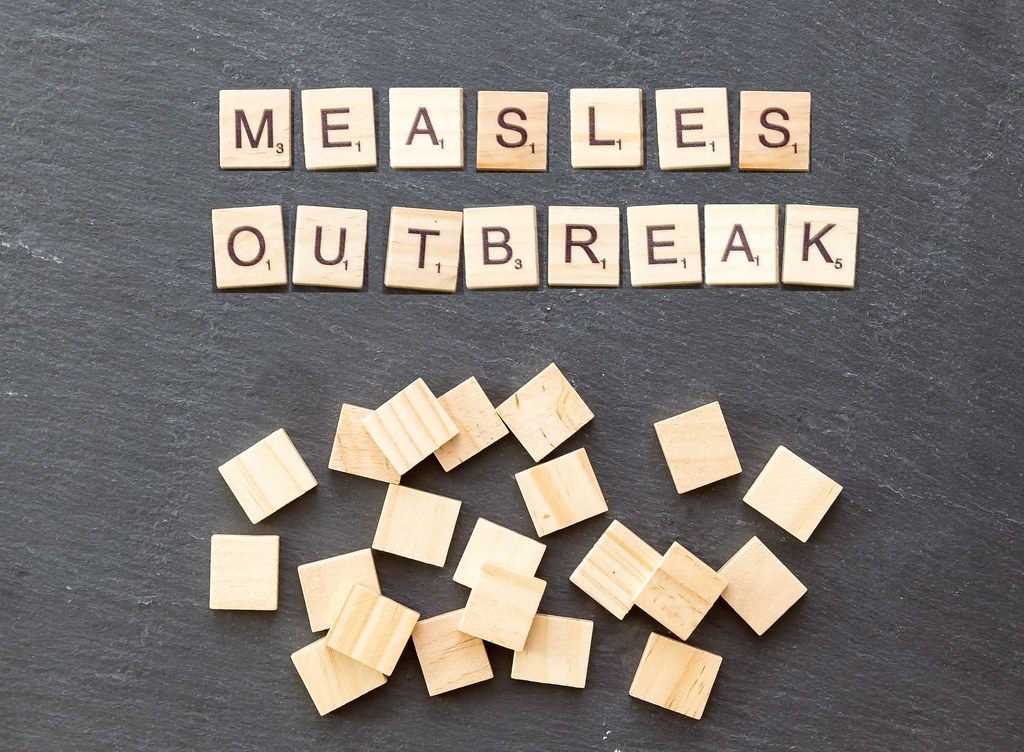 Measles outbreak.