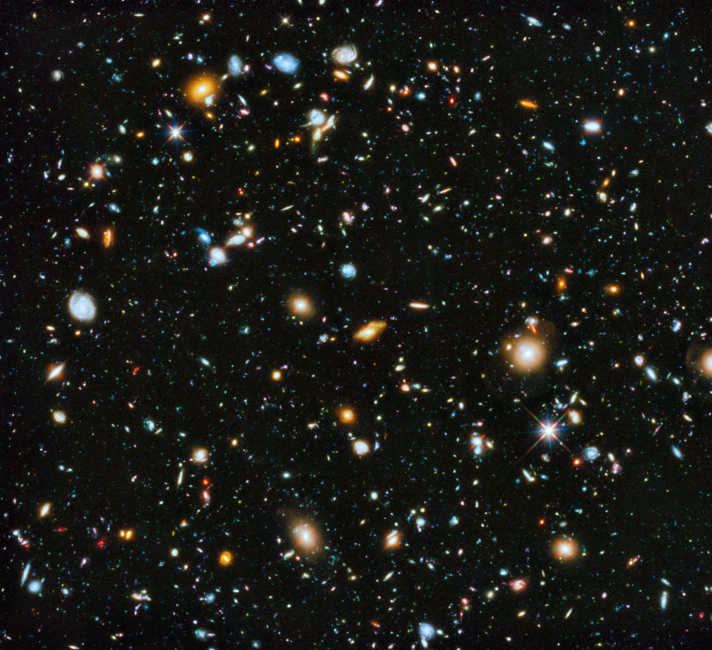 View of the universe by the Hubble Space Telescope. Credit: NASA.