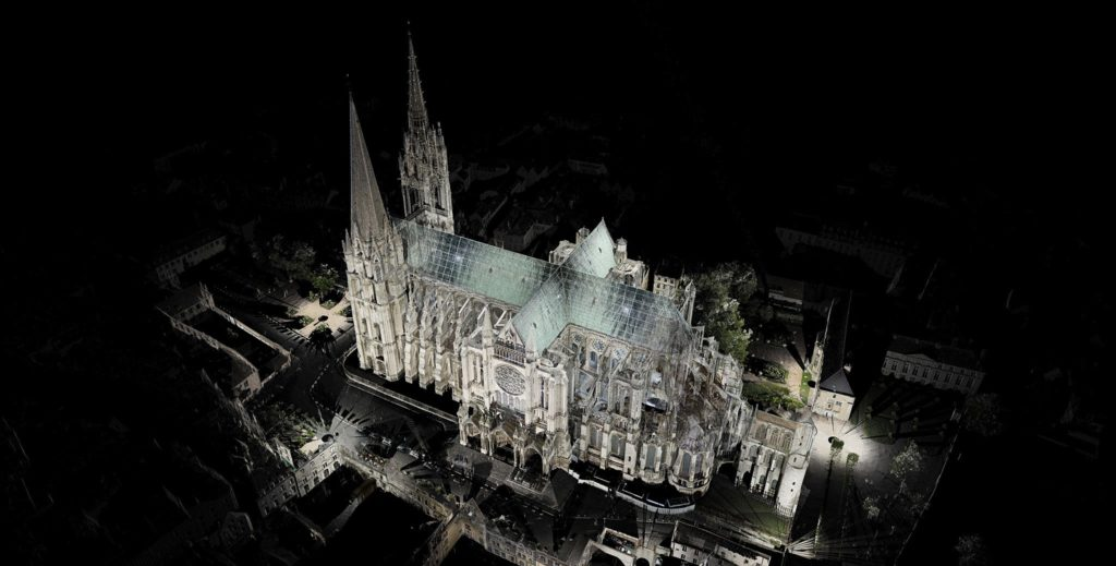 Digital reconstruction of Notre Dame cathedral performed with laser scanners. Credit: Andrew Tallon.