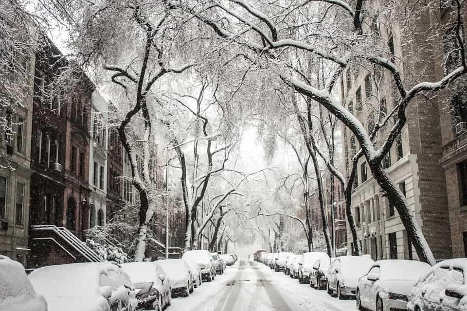 Snow street.