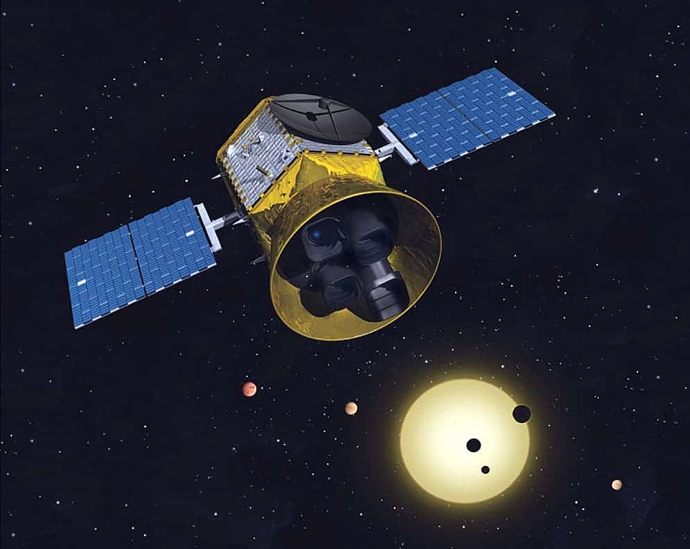 Artist impression of TESS mission. Credit: MIT.