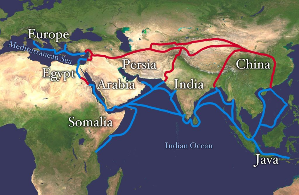 Silk road. Credit: Wikimedia Commons.