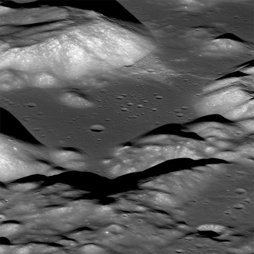 NASA's Lunar Reconnaissance Orbiter captured this view of the Taurus-Littrow valley. You can see a lunar fault cutting across it. Credit: NASA.