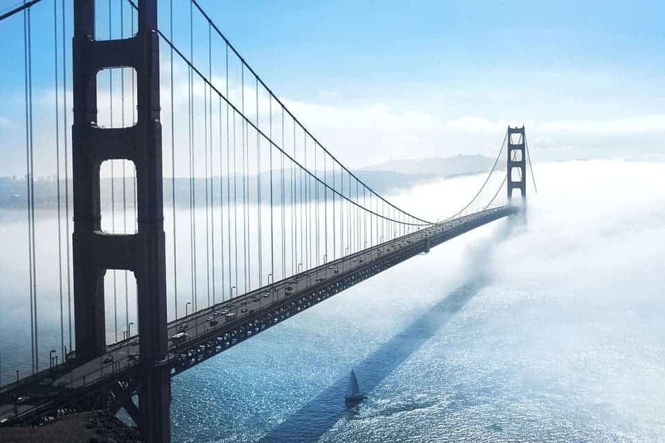 San Francisco's Golden Gate Bridge. Credit: Pixabay.