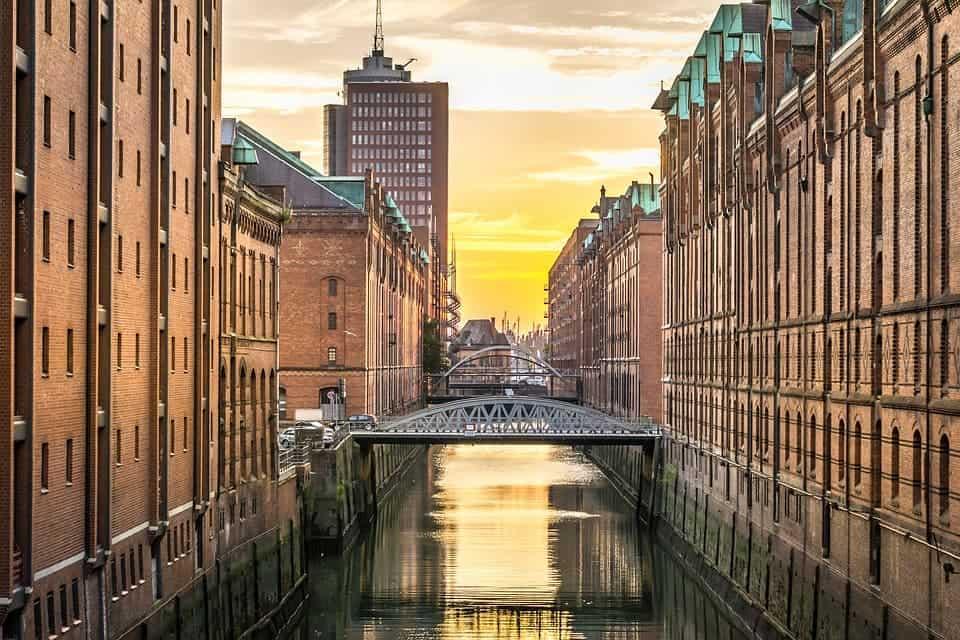 Hamburg river.