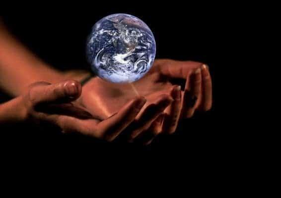 Planet hands.