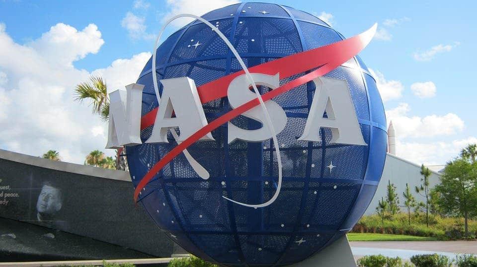 NASA sign.