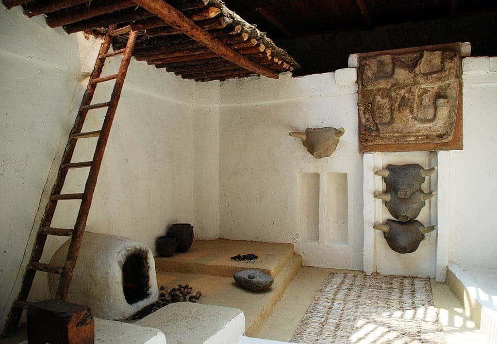 Çatalhöyük room restoration.