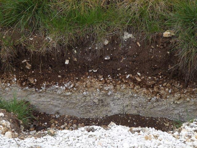 Soil profile.