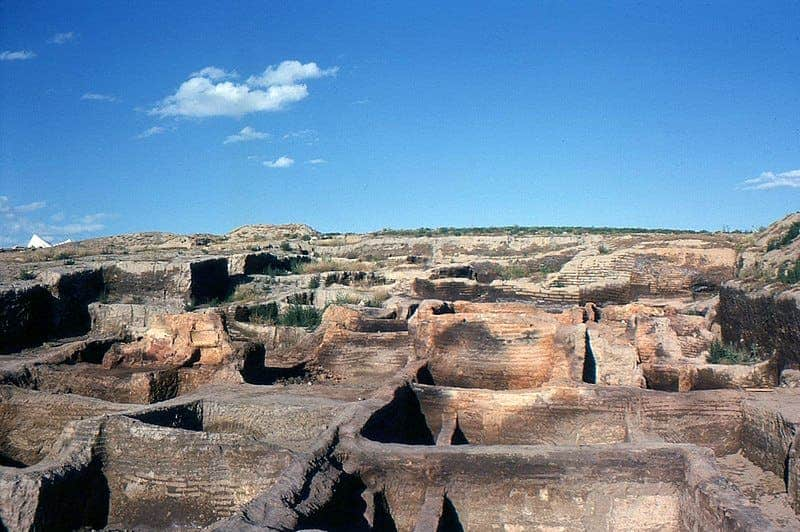 Çatalhöyük after the first excavations.