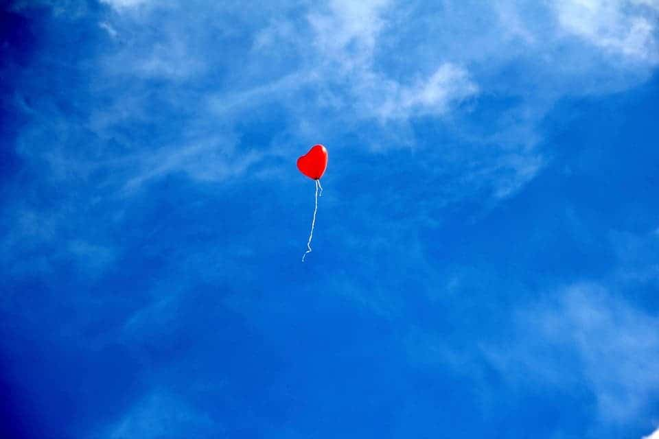 Heart balloon.