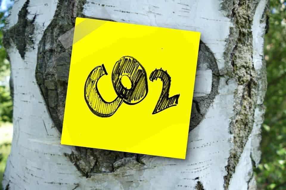 CO2 sticker.