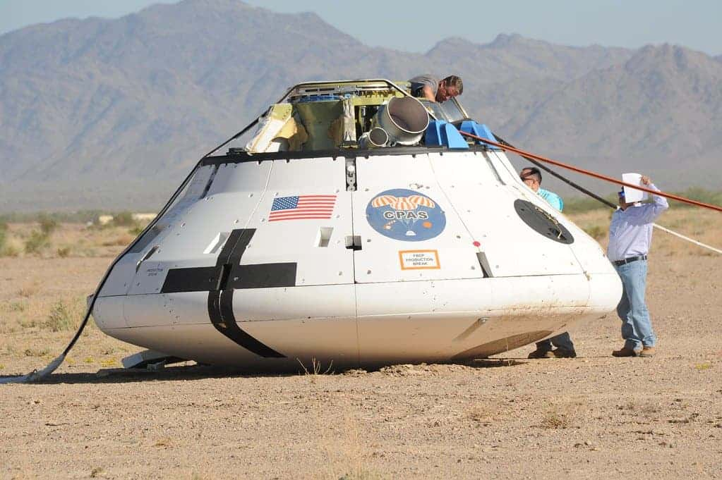 The Orion capsule. Credit: Flickr, D'oh boy.
