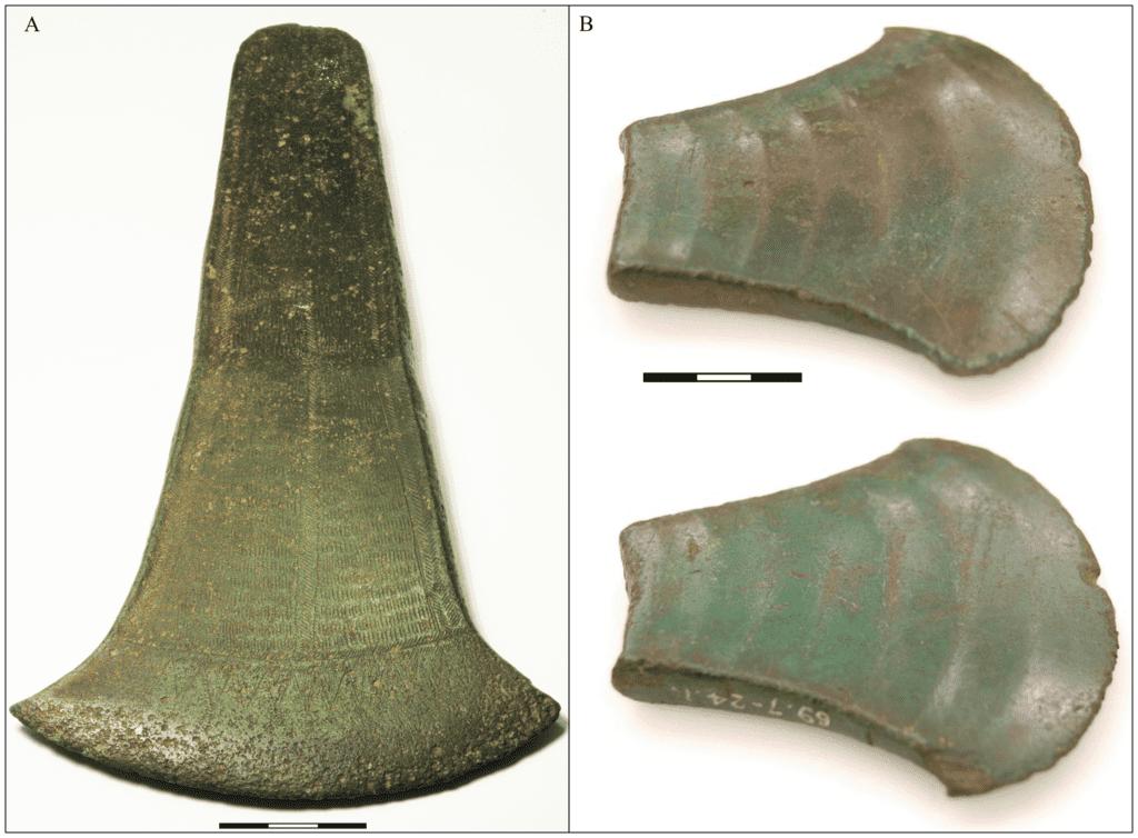 Bronze axeheads.