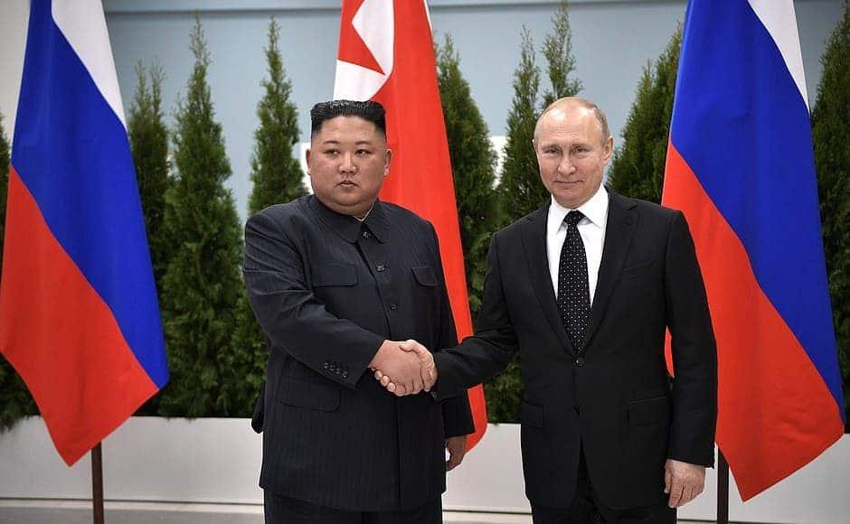 Russian President Vladimir Putin with North Korea Chairman Kim Jong-un. Credit: Kremlin.ru.